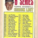 1967 Topps baseball card #454 6th Series checklist VG/EX (one box checked on back)
