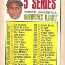 1967 Topps baseball card #361 (D) 5th Series Checklist (Roberto Clemente) Unmarked - EX