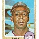 1968 Topps baseball card #216 Bubba Morton VG (light crease) California Angels
