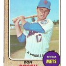 1968 Topps baseball card #572 Don Bosch Nm (miscut) New York Mets