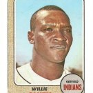 1968 Topps baseball card #568 Willie Smith EX (miscut) Cleveland Indians