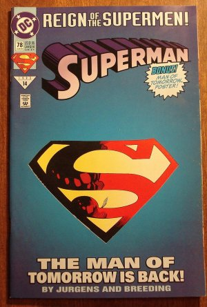 DC Comics - Superman #78 comic book (die cut cover) (1980's series)