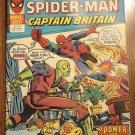 Super Spider-Man & Captain Britain #252 comic book magazine, British reprints of American comics