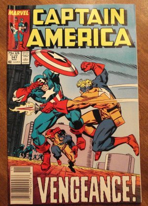 Captain America #347 comic book - Marvel Comics
