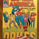 Captain America Goes to War Against Drugs promo comic book - Marvel Comics, VG