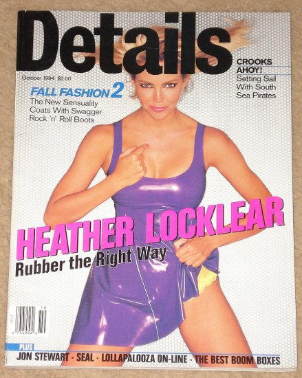 Details Magazine - October 1994 Heather Locklear, South sea Pirates, Jon Stewart, boom boxes