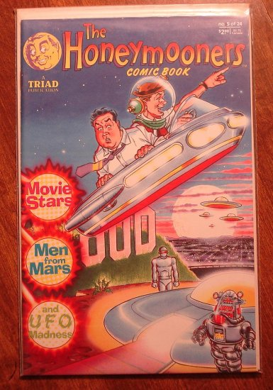 the HoneyMooners #5 comic book - Triad Publication, Jackie Gleason, Art Carney