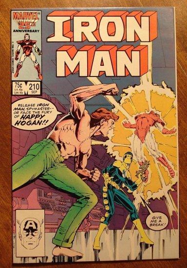 The Invincible Iron Man #210 comic book - Marvel Comics