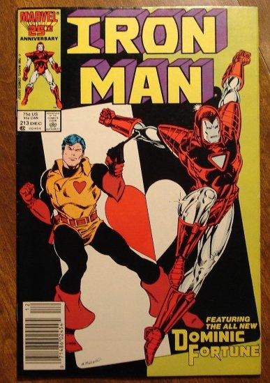 The Invincible Iron Man #213 comic book - Marvel Comics