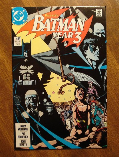 Batman #436 comic book - DC Comics - year 3