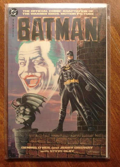 Batman 1989 Movie Adaptation deluxe format DC comic book Jack Nicholson Michael Keaton