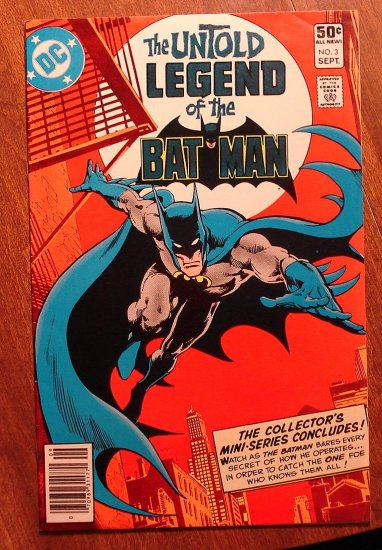 Untold Legend of The Batman #3 comic book - DC Comics, VG/F