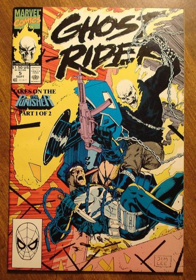 Ghost Rider #5 comic book - Marvel comics - w/ The Punisher