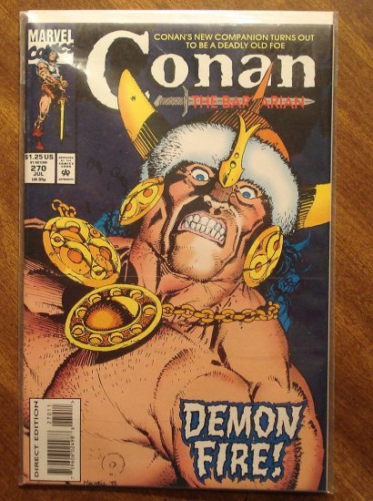 Conan The Barbarian #270 comic book - Marvel comics