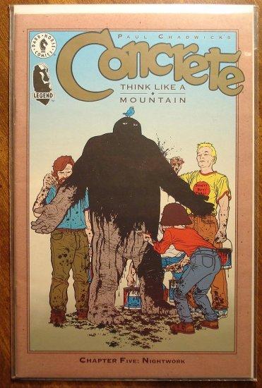 Concrete: Think Like a Mountain #5 comic book - Dark Horse Comics