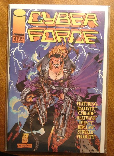 CyberForce #4 (1994) comic book - Image comics, cyber force