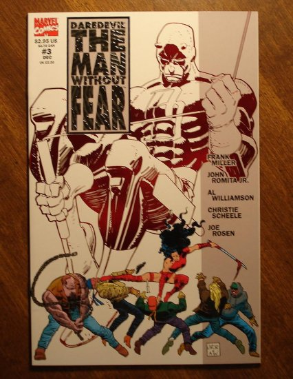 Daredevil: The Man Without Fear #3 comic book - Marvel Comics - Frank Miller