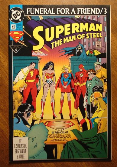 Superman: Man of Steel #20 comic book - DC Comics - Funeral For a Friend