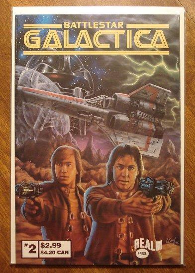 Battlestar Galactica #2 comic book - Realm Press comics