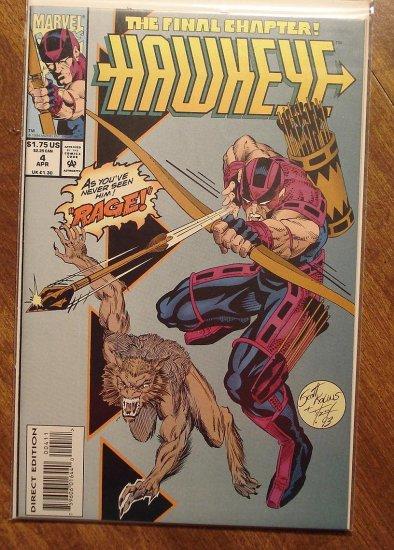 Hawkeye #4 (1994 mini series) comic book - Marvel Comics
