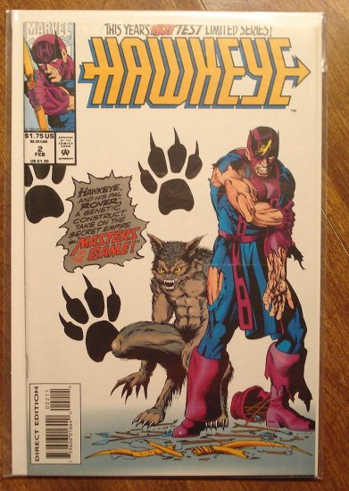 Hawkeye #2 (1994 mini series) comic book - Marvel Comics