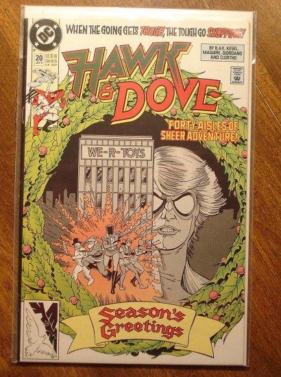 Hawk & Dove #20 (1980's series) comic book - DC Comics