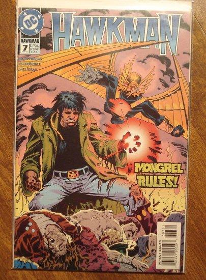 Hawkman #7 (1990's) comic book - DC Comics