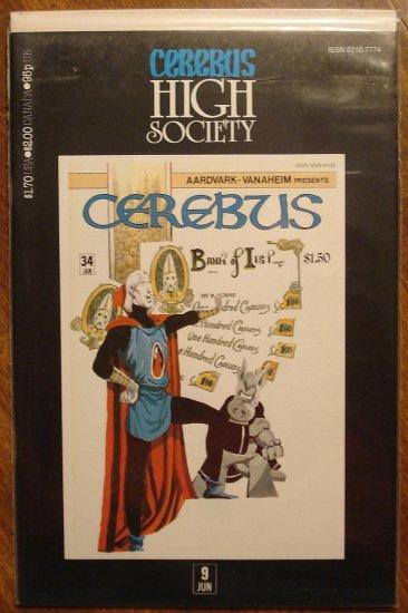 Cerebus - High Society (reprint series) #9 comic book - Dave Sim - Aardvark-Vanaheim