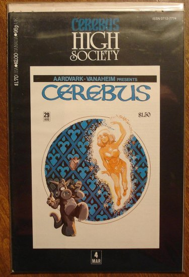 Cerebus - High Society (reprint series) #4 comic book - Dave Sim - Aardvark-Vanaheim
