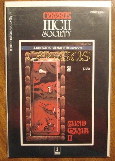 Cerebus - High Society (reprint series) #3 comic book - Dave Sim - Aardvark-Vanaheim