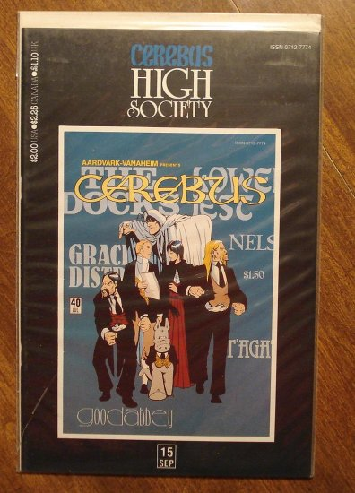 Cerebus - High Society (reprint series) #15 comic book - Dave Sim - Aardvark-Vanaheim