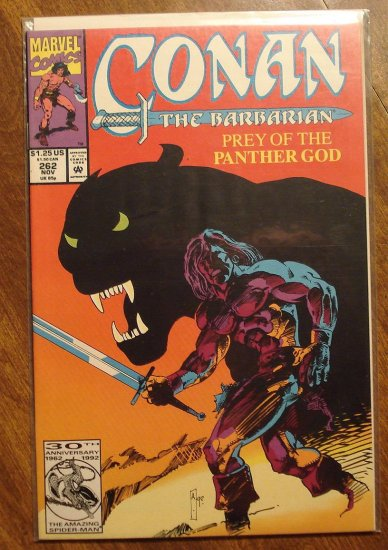 Conan The Barbarian #262 comic book - Marvel comics