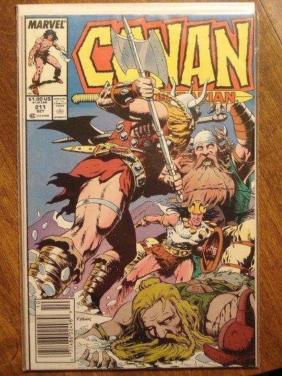 Conan The Barbarian #211 comic book - Marvel comics