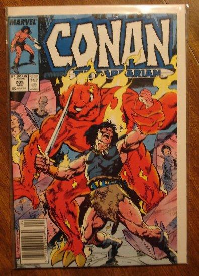 Conan The Barbarian #205 comic book - Marvel comics