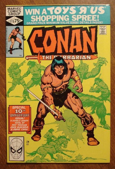 Conan The Barbarian #115 comic book - Marvel comics
