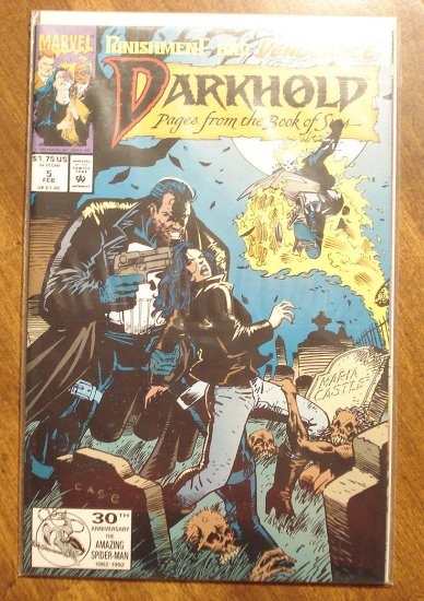 Darkhold #5 comic book - Marvel comics, w/ Punisher & Ghost Rider