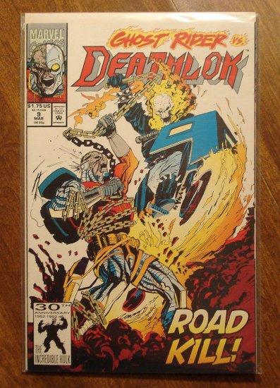 Deathlok #9 comic book - Marvel comics - w/ Ghost Rider!