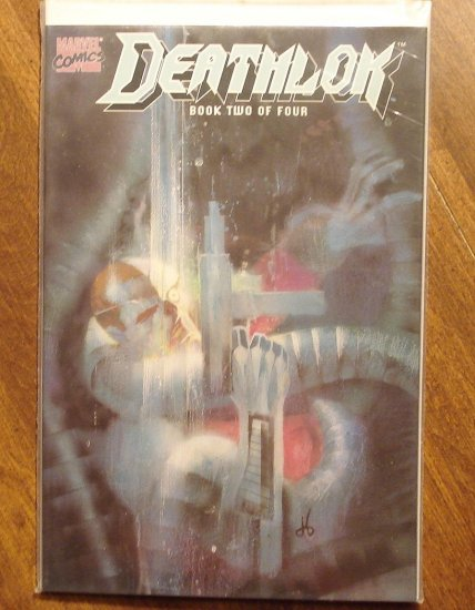 Deathlok deluxe format mini-series #2 comic book - Marvel comics