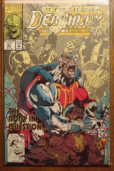 Deathlok #21 comic book - Marvel comics