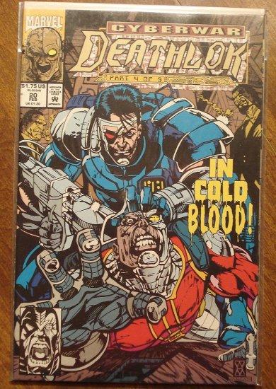 Deathlok #20 comic book - Marvel comics