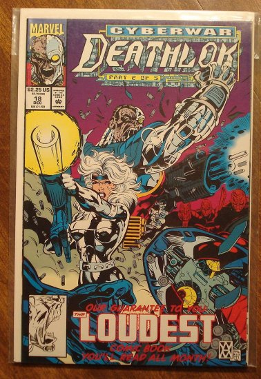 Deathlok #18 comic book - Marvel comics
