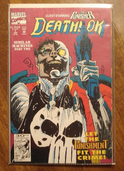 Deathlok #7 comic book - Marvel comics - w/ The Punisher!