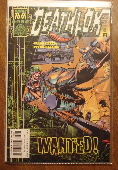Deathlok #2 (1999) comic book - Marvel 'Tech' comics - BOTH COVER VARIATIONS!