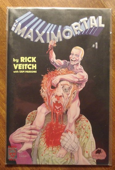 MaxiMortal #1 comic book - King Hell Comics - Rick Veitch