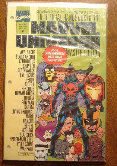 Official Handbook to the Marvel Universe (Master Edition) #33  NM / MINT