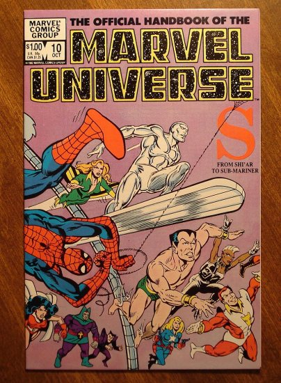 Official Handbook to the Marvel Universe (Original Edition) #10
