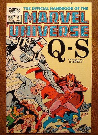 Official Handbook to the Marvel Universe (Original Edition) #9 comic book - Marvel comics