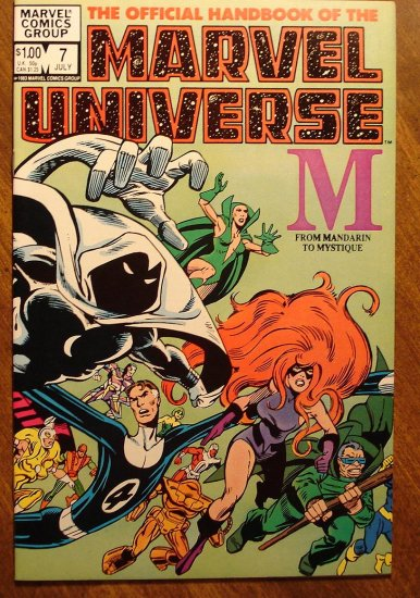 Official Handbook to the Marvel Universe (Original Edition) #7 comic book - Marvel comics