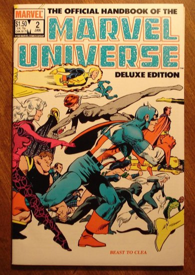 Official Handbook to the Marvel Universe (Deluxe Edition) #2 comic book - Marvel comics