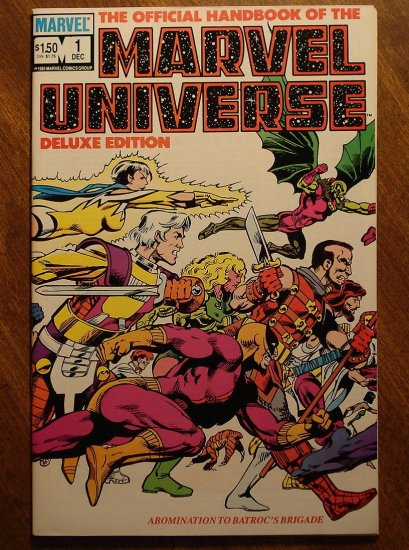 Official Handbook to the Marvel Universe (Deluxe Edition) #1 comic book - Marvel comics